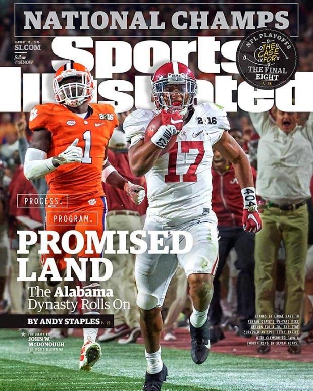 Sports Illustrated cover Kenyan Drake, January 18, 2016