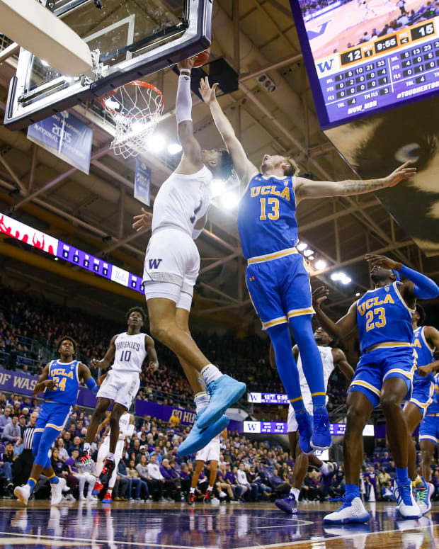 Nate Roberts is slowly working his way into minutes for the UW basketball team.