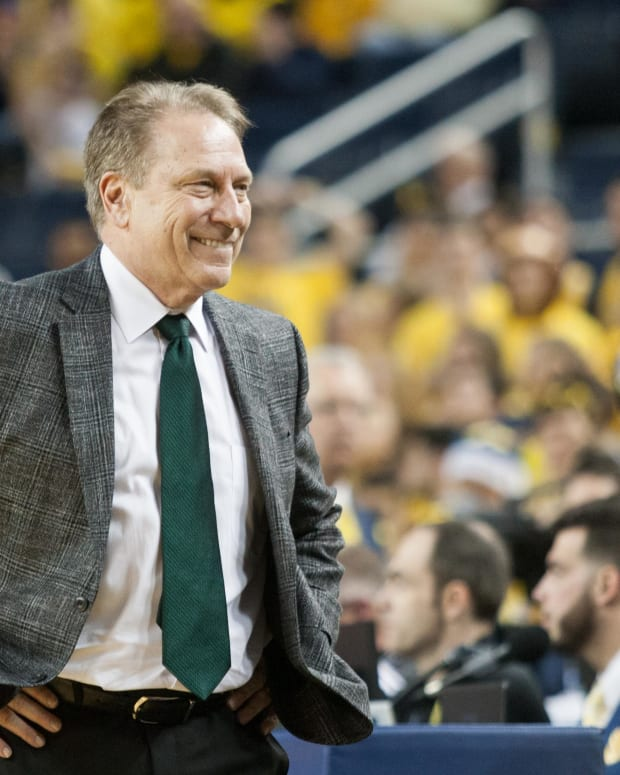 Tom Izzo:  Michigan State University vs University of Michigan, Ann Arbor, MI - Sunday, February 25, 2019 - MSU 77  - Michigan 70