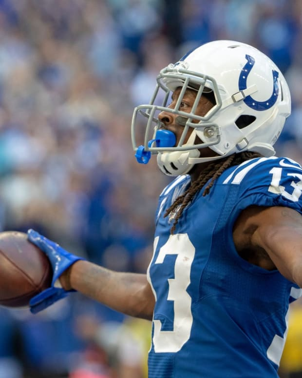 Indianapolis Colts wide receiver T.Y. Hilton is coming off two seasons with injuries, but he's still considered a solid second-tier option in NFL fantasy drafts.