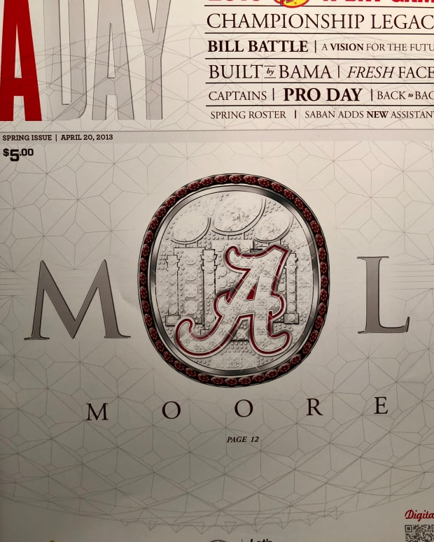 Mal Moore A-Day program cover, April 20, 213