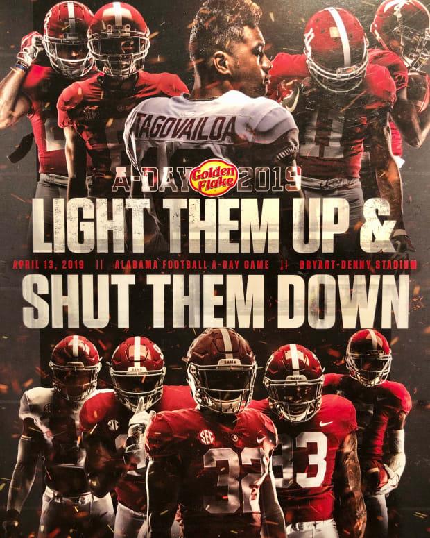 Alabama A-Day game program, April 13, 2019