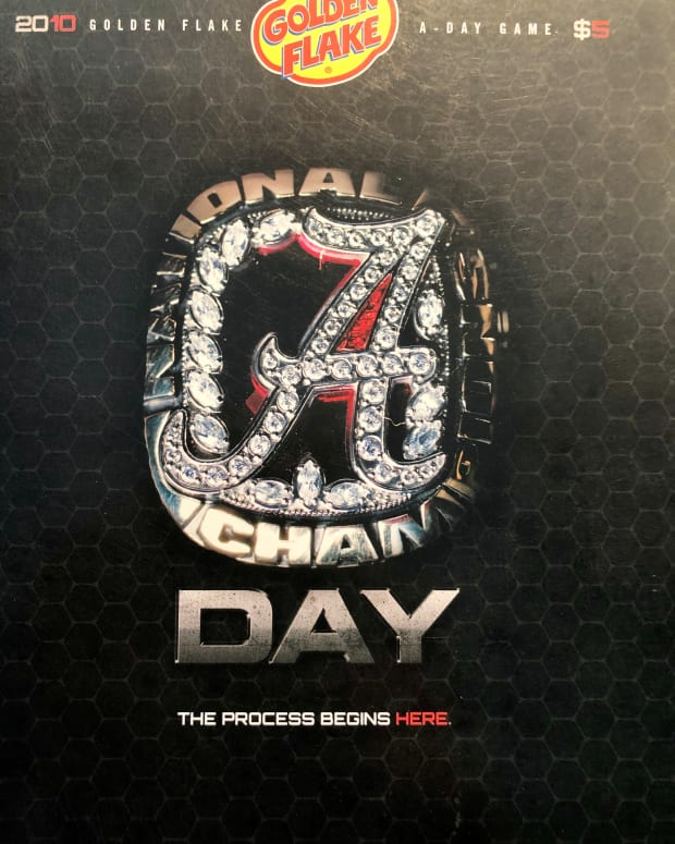 A-Day game program cover, April 17, 2010