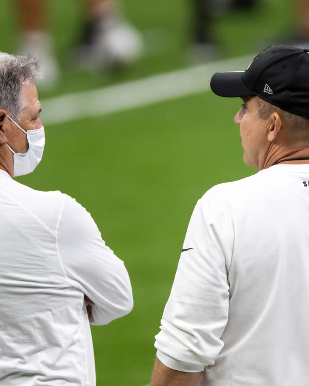 Saints GM Mickey Loomis and Head Coach Sean Payton