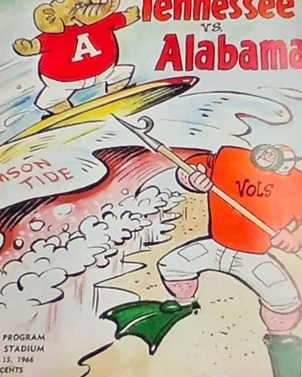 Alabama at Tennessee game program, Oct. 15, 1966