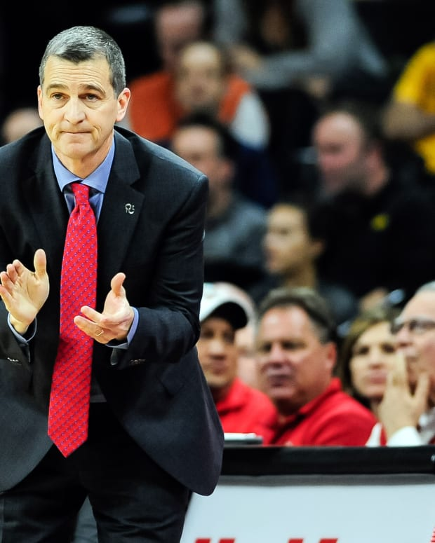 Jan 19, 2017; Iowa City, IA, USA; Maryland Terrapins head coach Mark Turgeon reacts during the second half against the Iowa Hawkeyes at Carver-Hawkeye Arena. Maryland won 84-76. Mandatory Credit: Jeffrey Becker-USA TODAY Sports