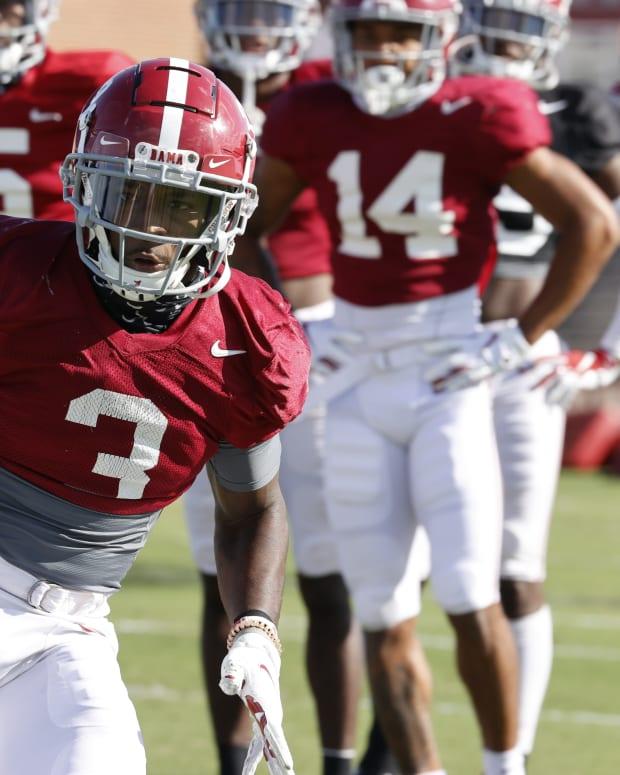 Daniel Wright, Alabama practice, September 29, 2020