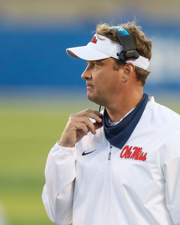 Mississippi Rebels head coach Lane Kiffin in the second half against Kentucky at Kroger Field. Mandatory Credit: Katie Stratman-USA TODAY