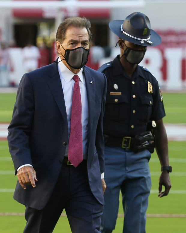 Nick Saban, pre-game against Georgia