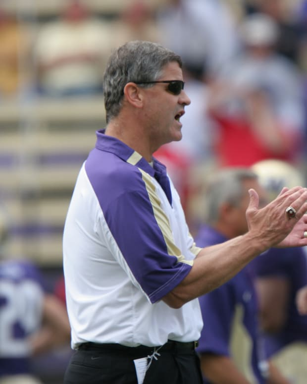 Chris Tormey coached UW linebackers on the 1991 national championship team.