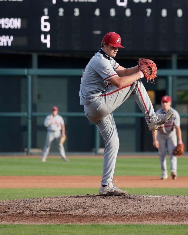 Alabama pitcher Connor Prielipp, 2020 fall practice