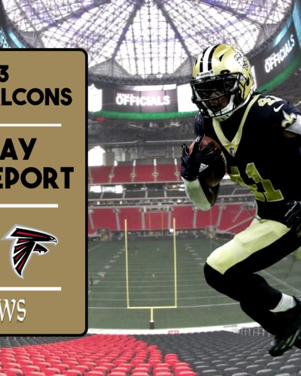 Saints Injury Report Week 13