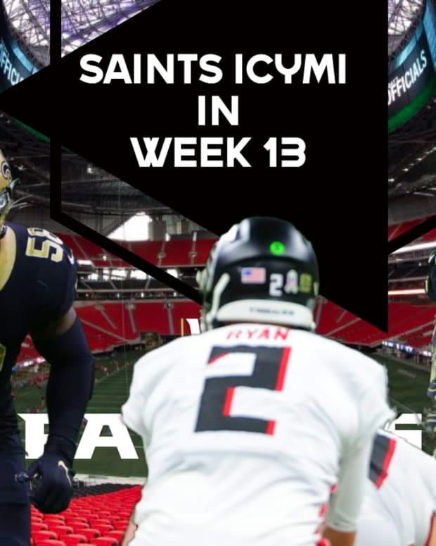 ICYMI Saints vs Falcons Week 13