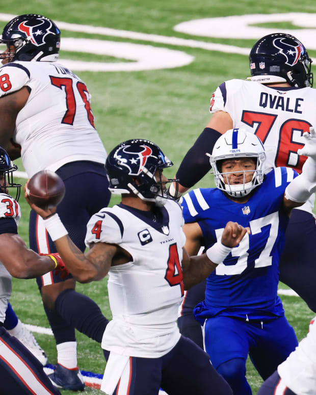 Deshaun Watson against the Colts