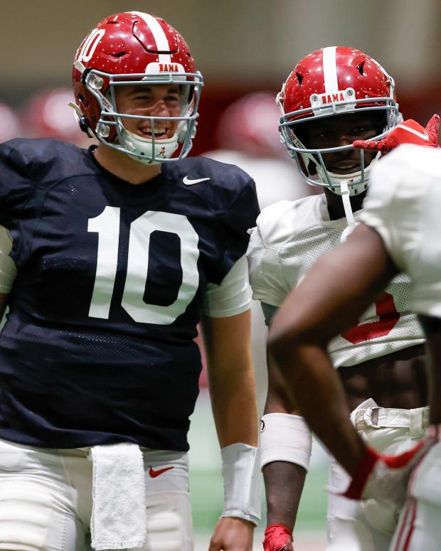 Mac Jones, Alabama practice, December 28, 2020