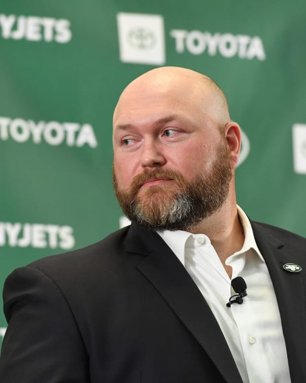 Jets GM Joe Douglas at press conference