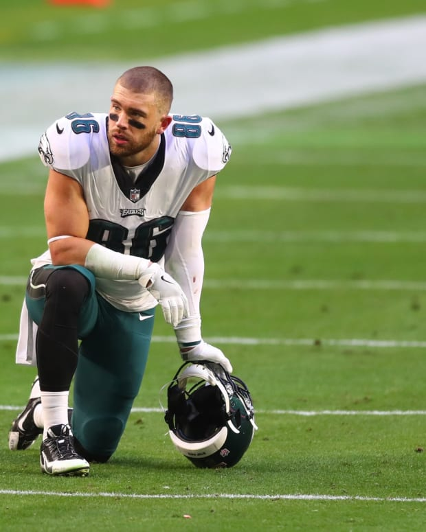 Zach Ertz will likley wear another uniform in 2021