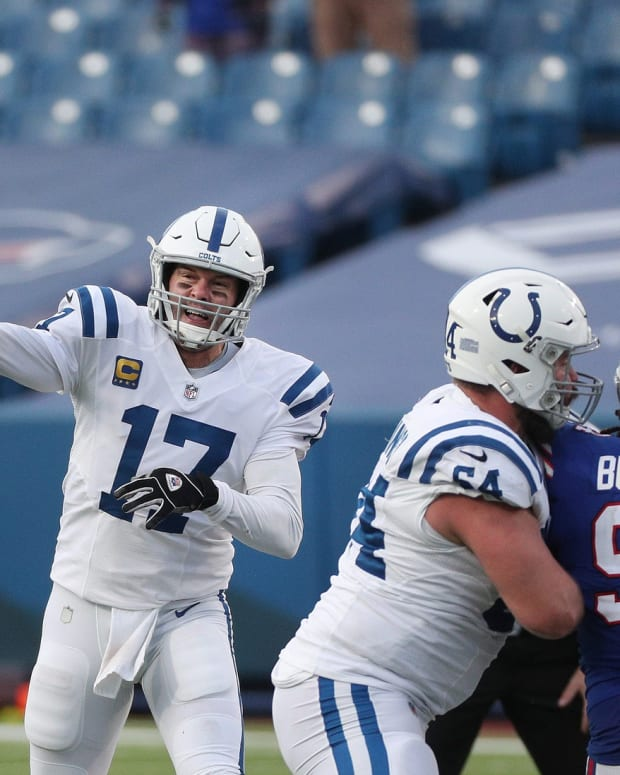 The Indianapolis Colts have to decide on re-signing quarterback Philip Rivers for 2021.