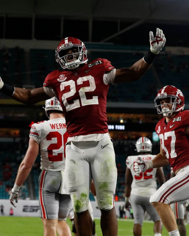 January 11, 2021, Alabama running back Najee Harris in CFP National Championship in Miami, FL.