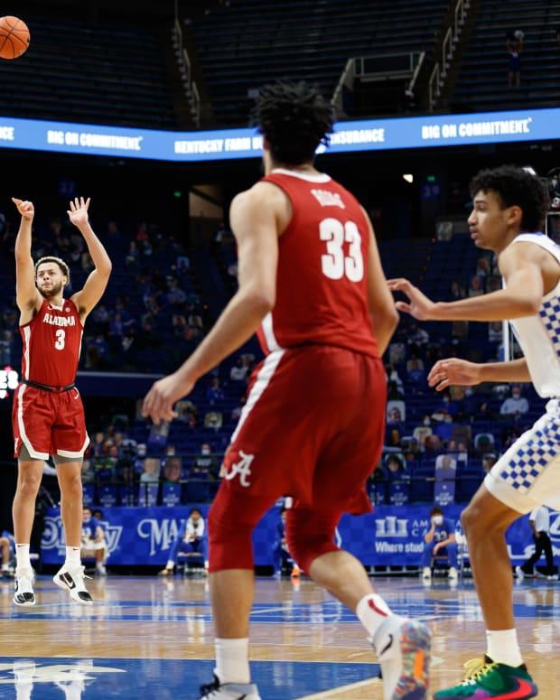 January 12, 2021, Alabama basketball forward Alex Reese against Kentucky in Lexington, KY.