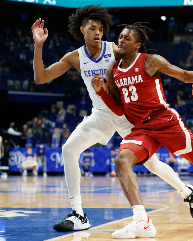 January 12, 2021, Alabama basketball guard John Petty Jr. against Kentucky in Lexington, KY.