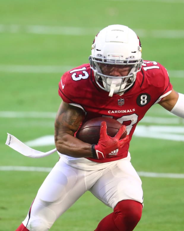 Arizona Cardinals wide receiver Christian Kirk (13) against the Philadelphia Eagles at State Farm Stadium.