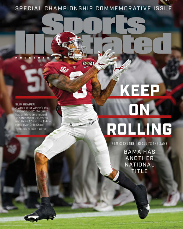DeVonta Smith SI national championship commemorative issue cover