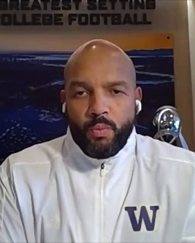 Jimmy Lake spoke about a possible bowl game for the Huskies that didn't materialize because of COVID-19 issues.