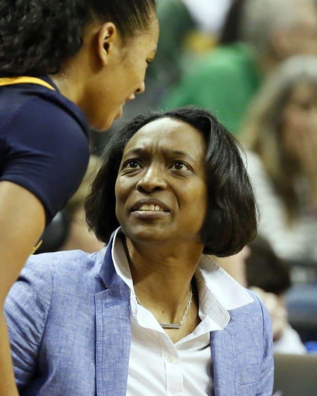 Cal women's basketball coach Charmin Smith