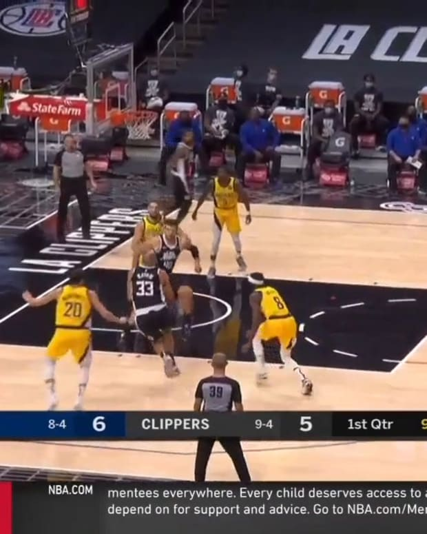 Sabonis rim protection vs Clippers