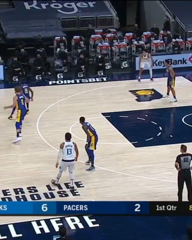 Porzingis Open Finishes vs. Pacers