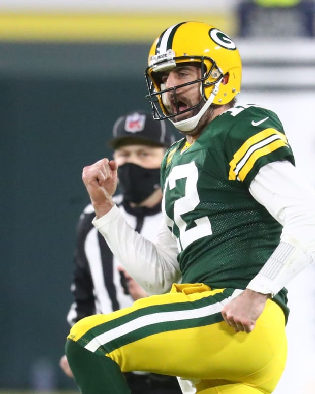 Green Bay quarterback Aaron Rodgers had arguably his best season in 2020 in leading the Packers to the NFC's No. 1 seed.
