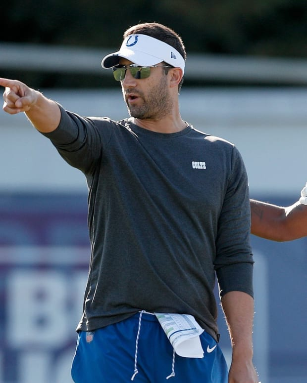 Indianapolis Colts offensive coordinator Nick Sirianni (left) has been hired as Philadelphia Eagles head coach.