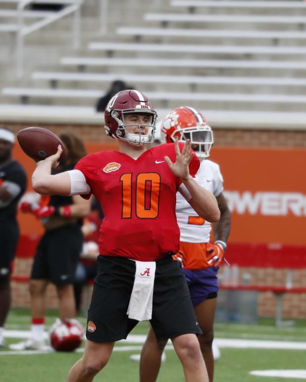 Mac Jones, 2021 Senior Bowl Practice, January 26, 2021