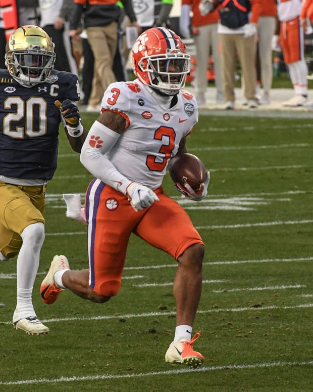 Clemson WR Amari Rodgers vs Notre Dame Fighting Irish