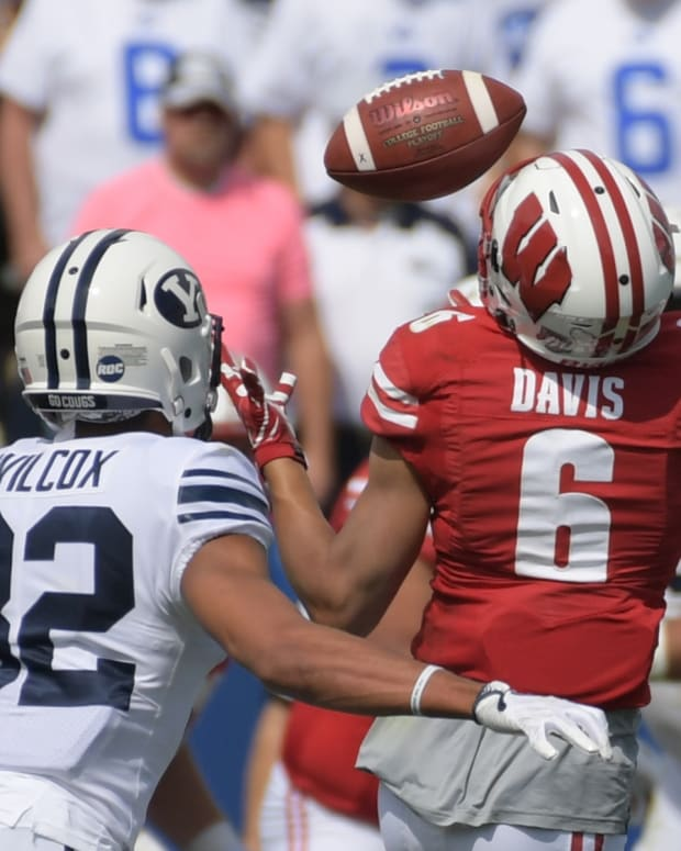 BYU Football Chris Wilcox against Wisconsin