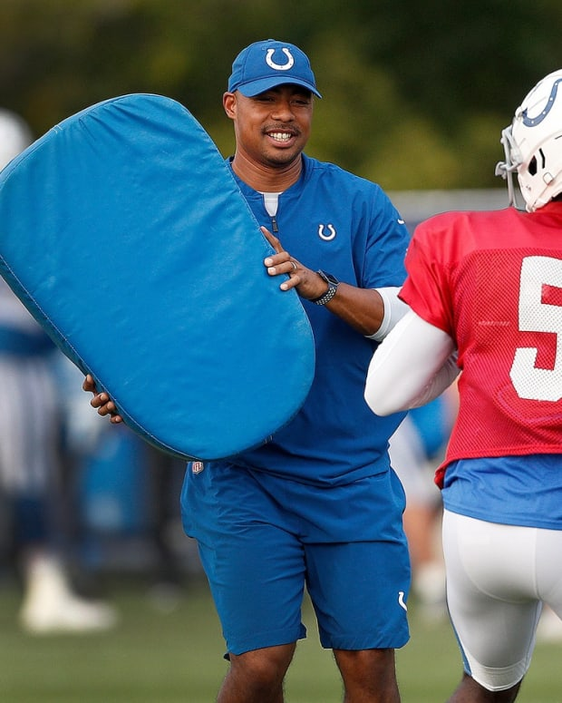 Indianapolis Colts quarterback coach Marcus Brady has been promoted to offensive coordinator.