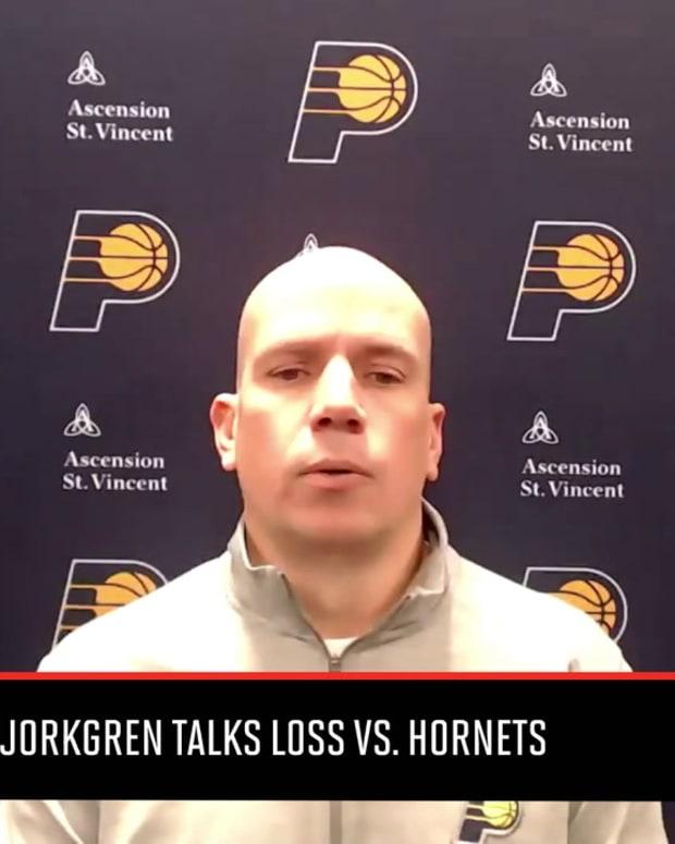 Pacers Coach Nate Bjorkgren Talks Loss Against Hornets