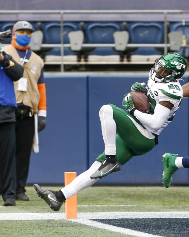 Jets safety Marcus Maye interception against Seattle Seahawks