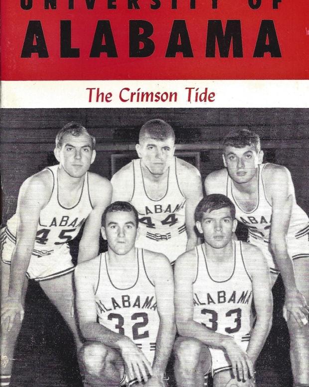 1966-67 Alabama men's basketball media guide cover