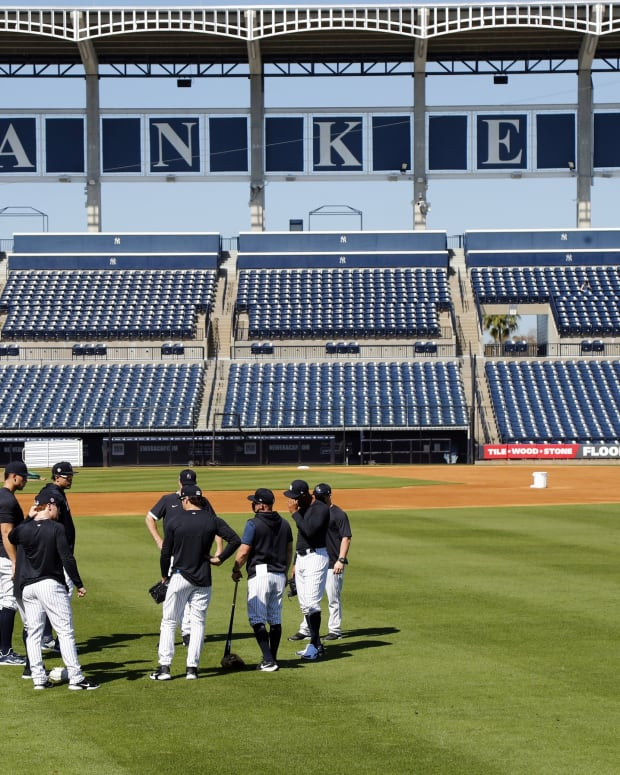 Yankees spring training workout at George M. Steinbrenner Field
