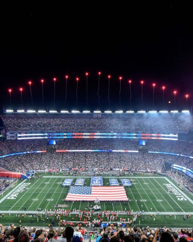 Gillette Stadium during a Patriots game