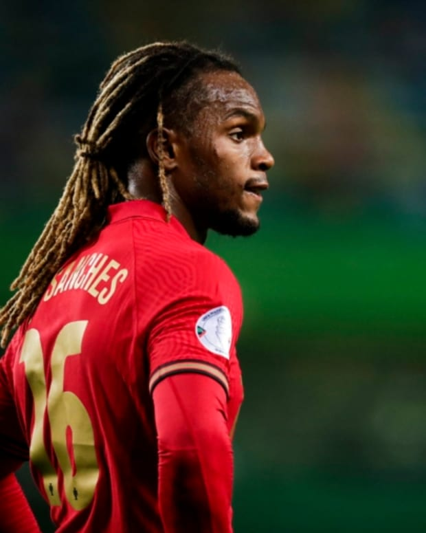 LISBON, PORTUGAL - OCTOBER 7: Renato Sanches of Portugal during the  International Friendly match between Portugal  v Spain  at the Jose Alvalade stadium on October 7, 2020 in Lisbon Portugal (Photo by David S. Bustamante/Soccrates/Getty Images)