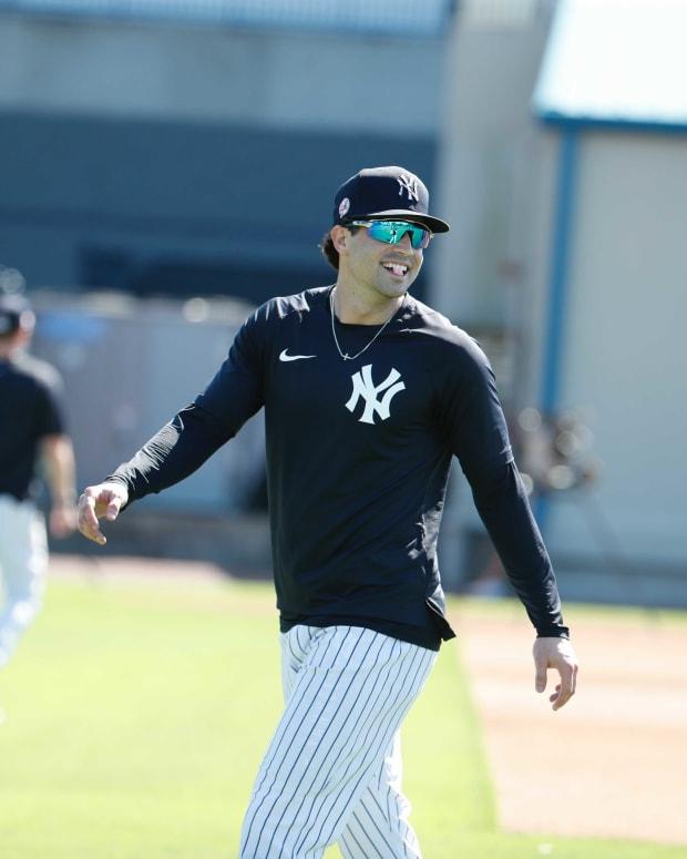 Yankees utility man Tyler Wade smiling