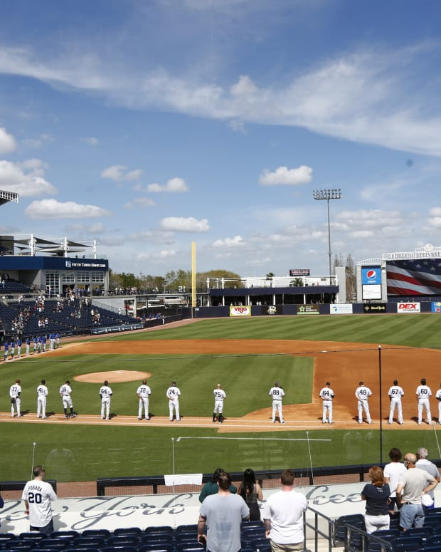 Fans at George M. Steinbrenner Field for the Yankees' spring training opener