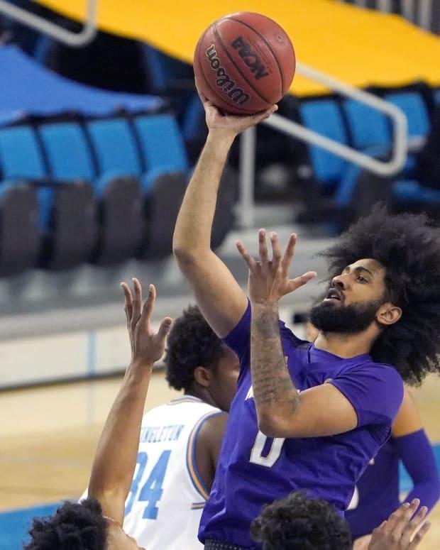 Marcus Tsohonis has many creative ways to reach the basket.