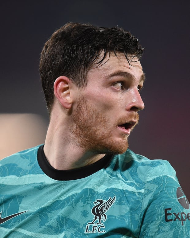 Andy Robertson during the win at Sheffield United