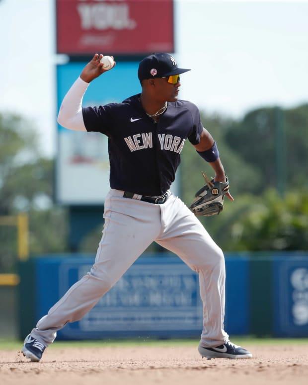 Yankees third baseman Miguel Andujar