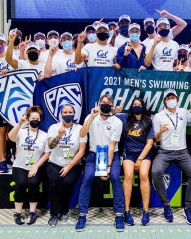 Cal men's swim team