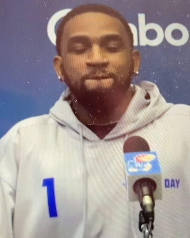 Pooka Williams after Kansas Pro Day